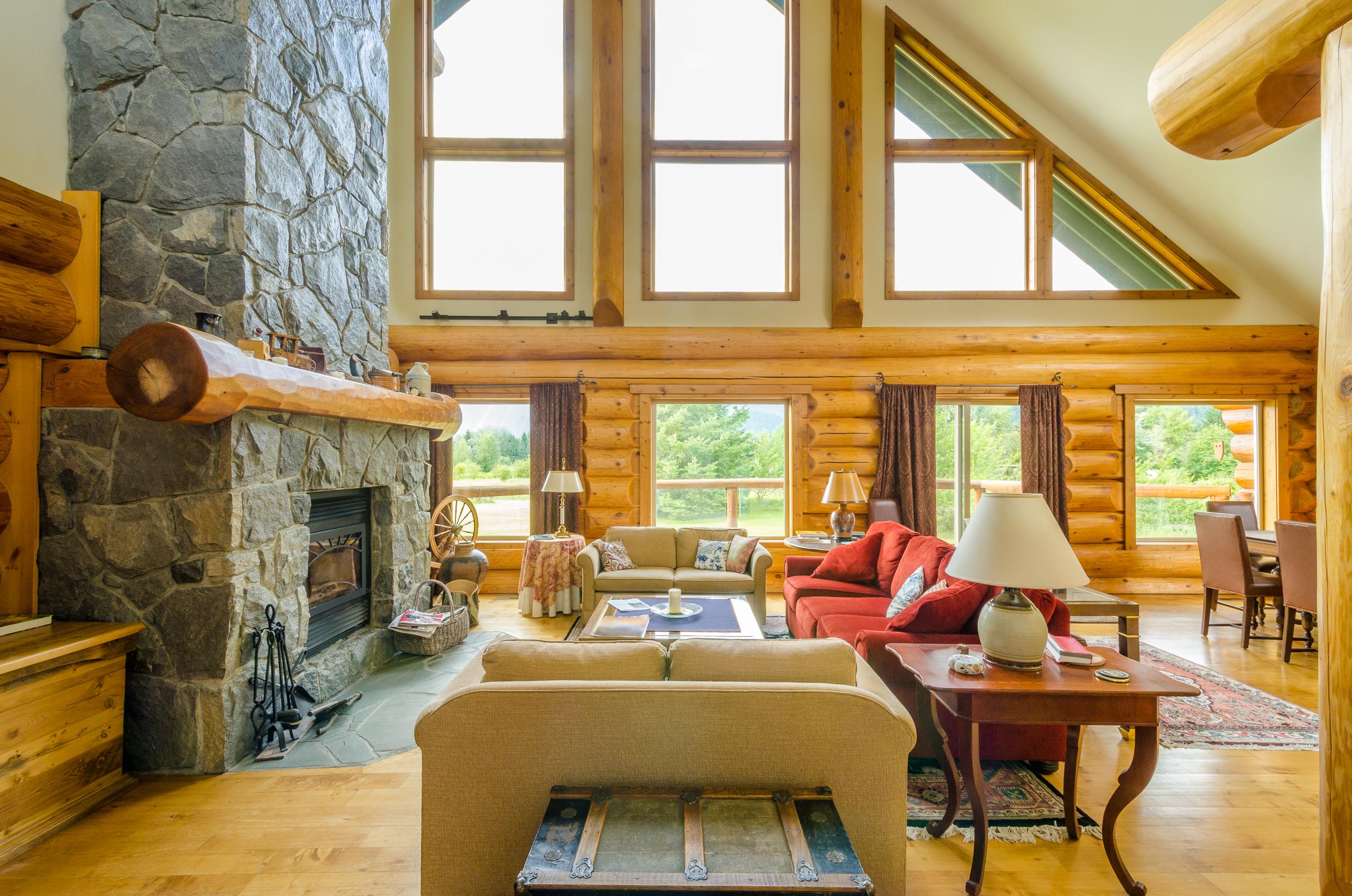 log home pictures interior. Contemporary Log Home Interior Design Shutterstock 159205520